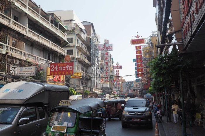 Čínská čtvrť Bangkok Thajsko