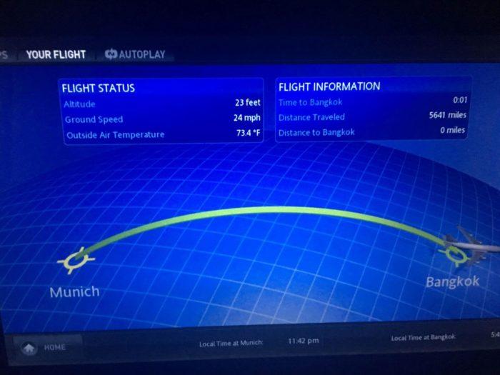 Displej přistání Bangkok