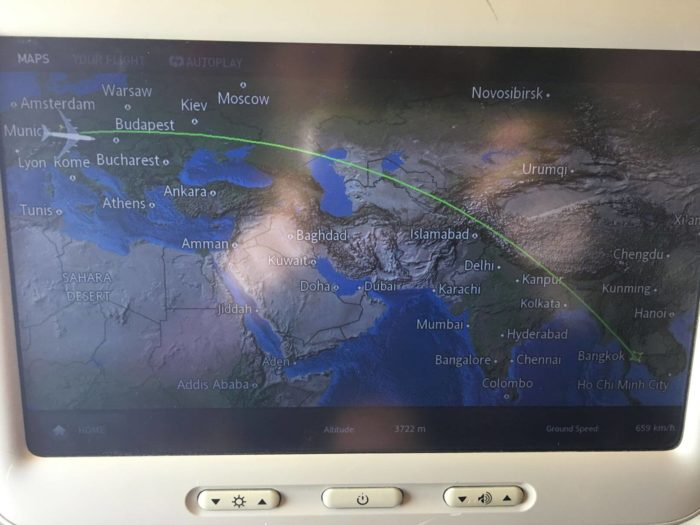 Displej Thai Airways Mnichov