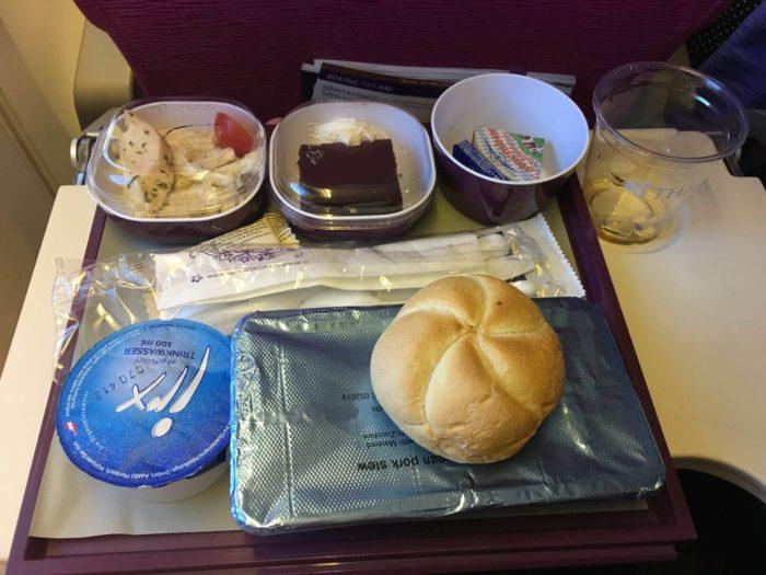 Jídlo Thai airways