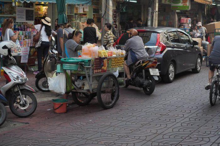 Občerstvení čínská čtvrť Bangkok