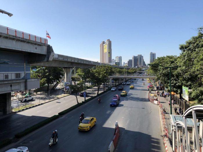 Rušné silnice Bangkok