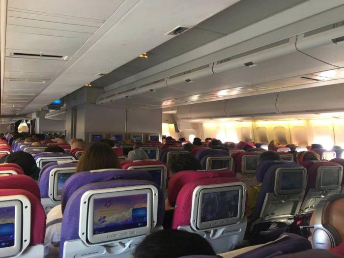Sedadla Boeing 747-400 Thai airways