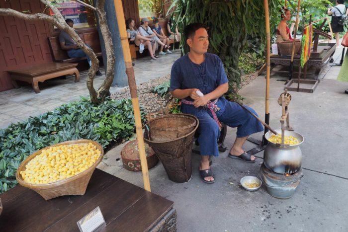Výroba bavlny Bangkok