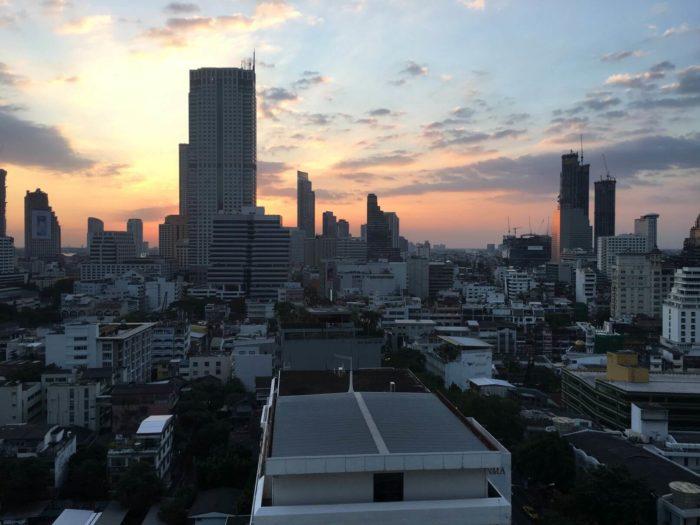 Západ slunce Bangkok