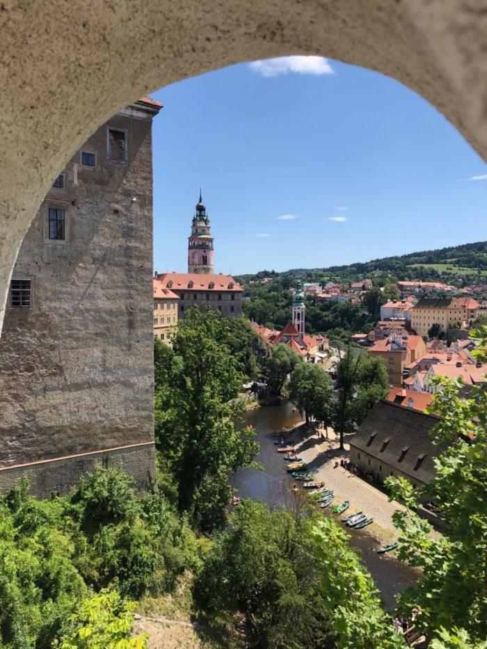 Český Krumlov ze zámku