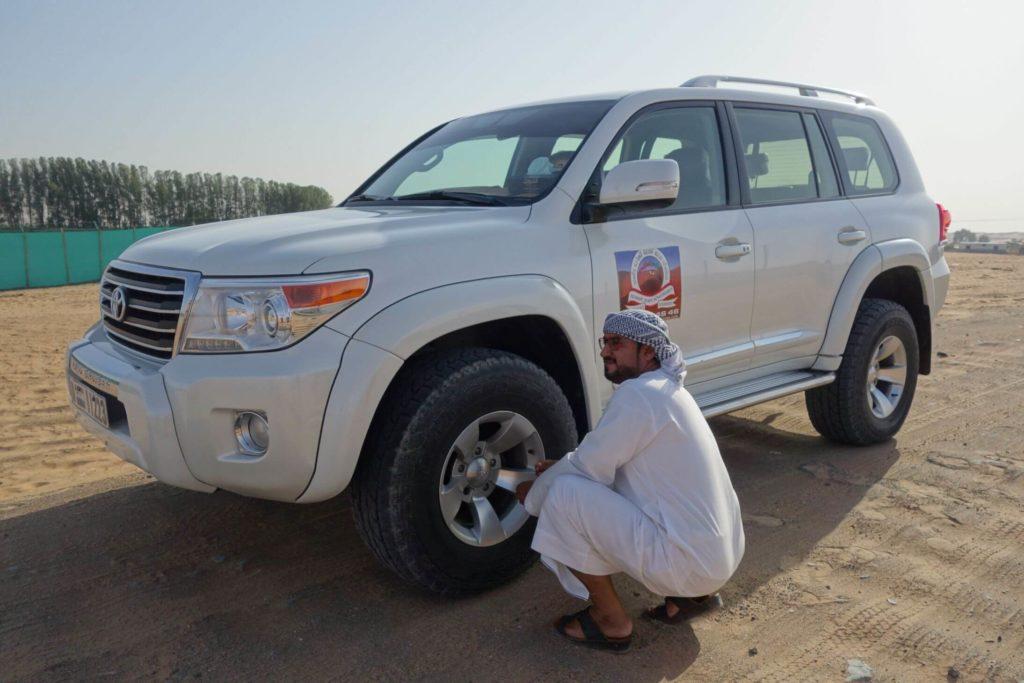 Upuštění pneumatik před jízdou