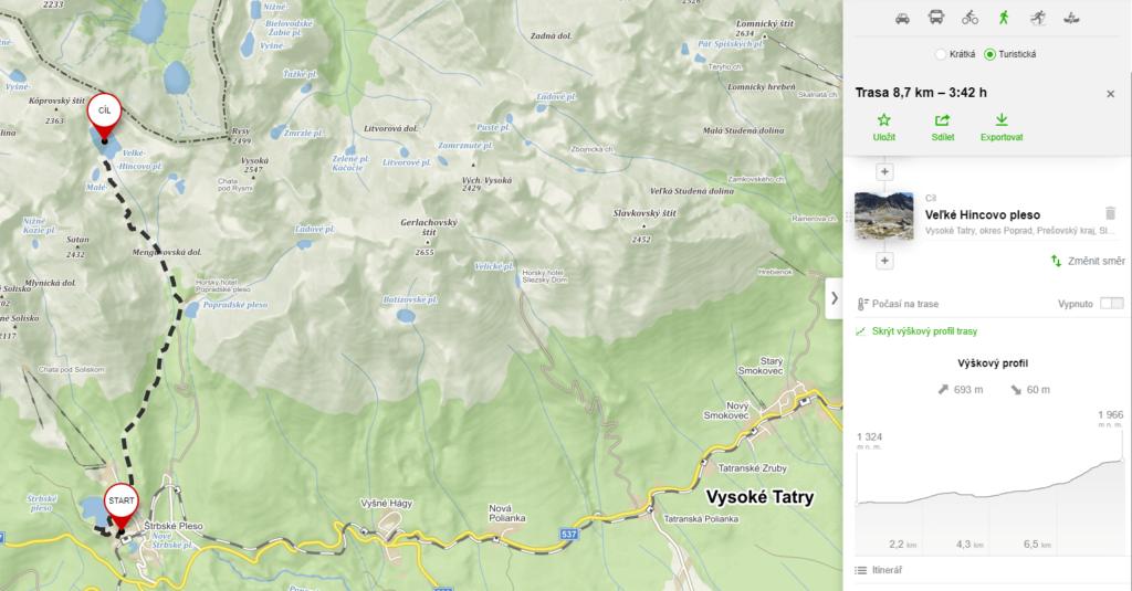 Hincovo Pleso - mapy.cz