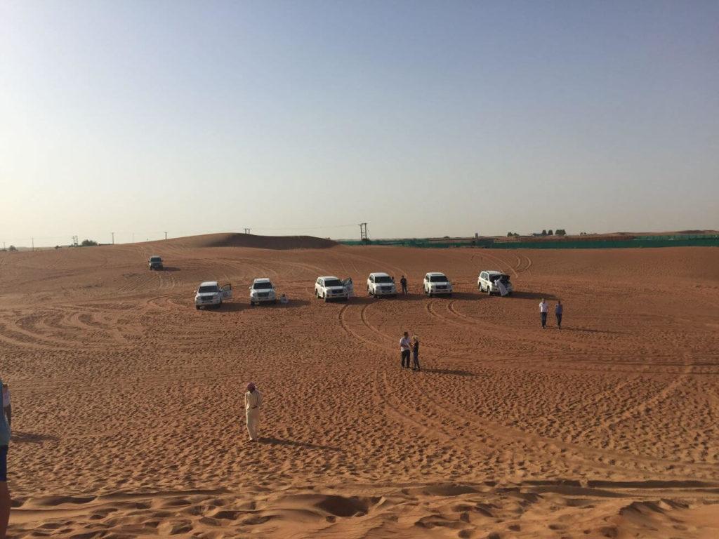 Příprava na jízdu - Dubaj