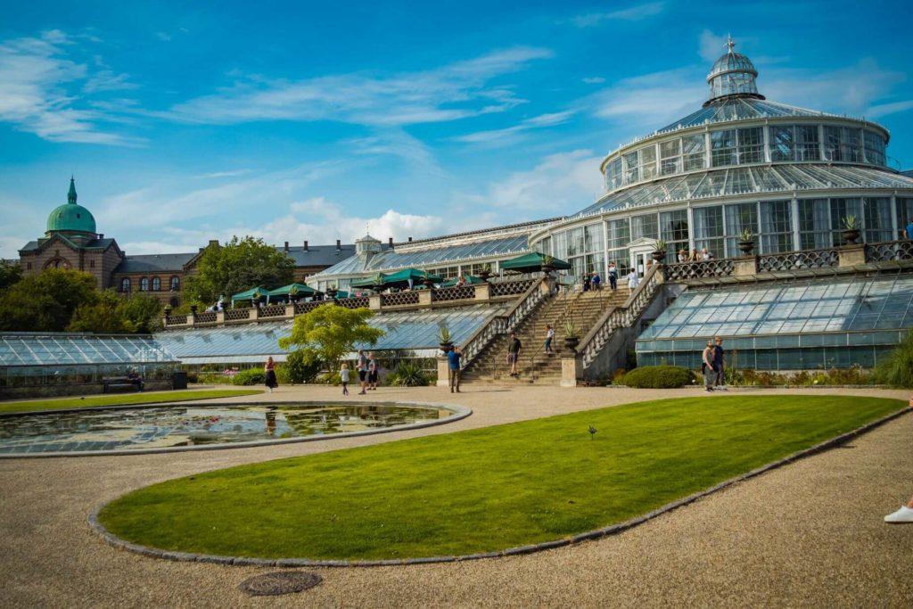 Kodaň botanická zahrada skleník
