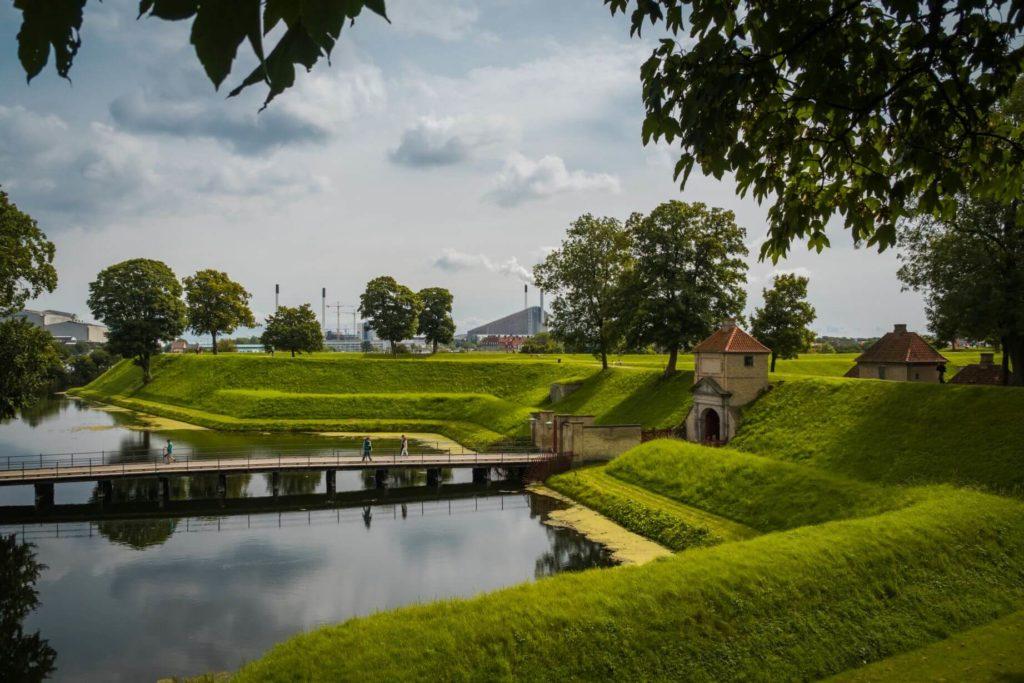 Pevnost Kastellet příkop