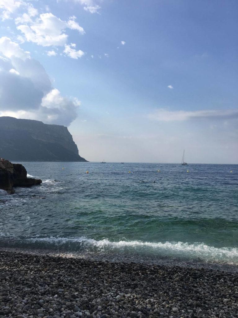 Pláž v Cassis