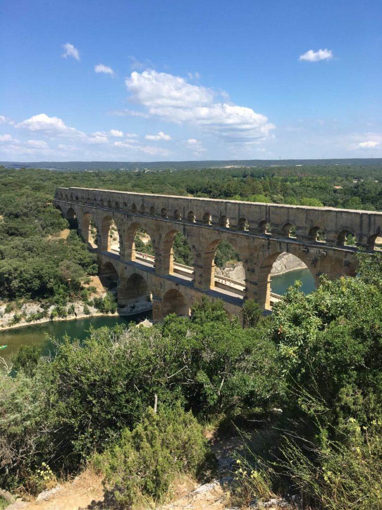 Pont du Gard z vyhlídky