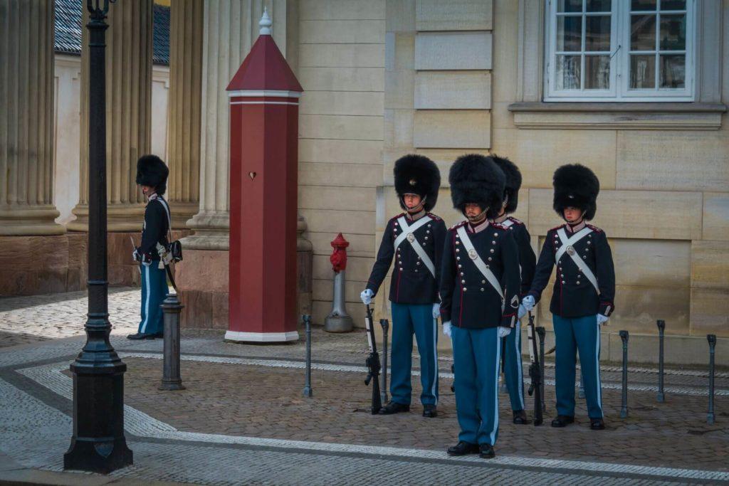 Střídání stráží Kodaň
