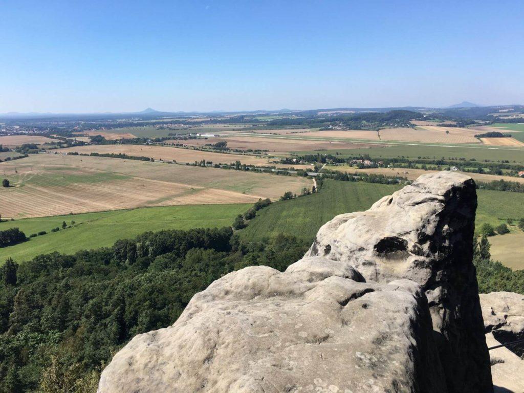 Výhled z Drábských světniček