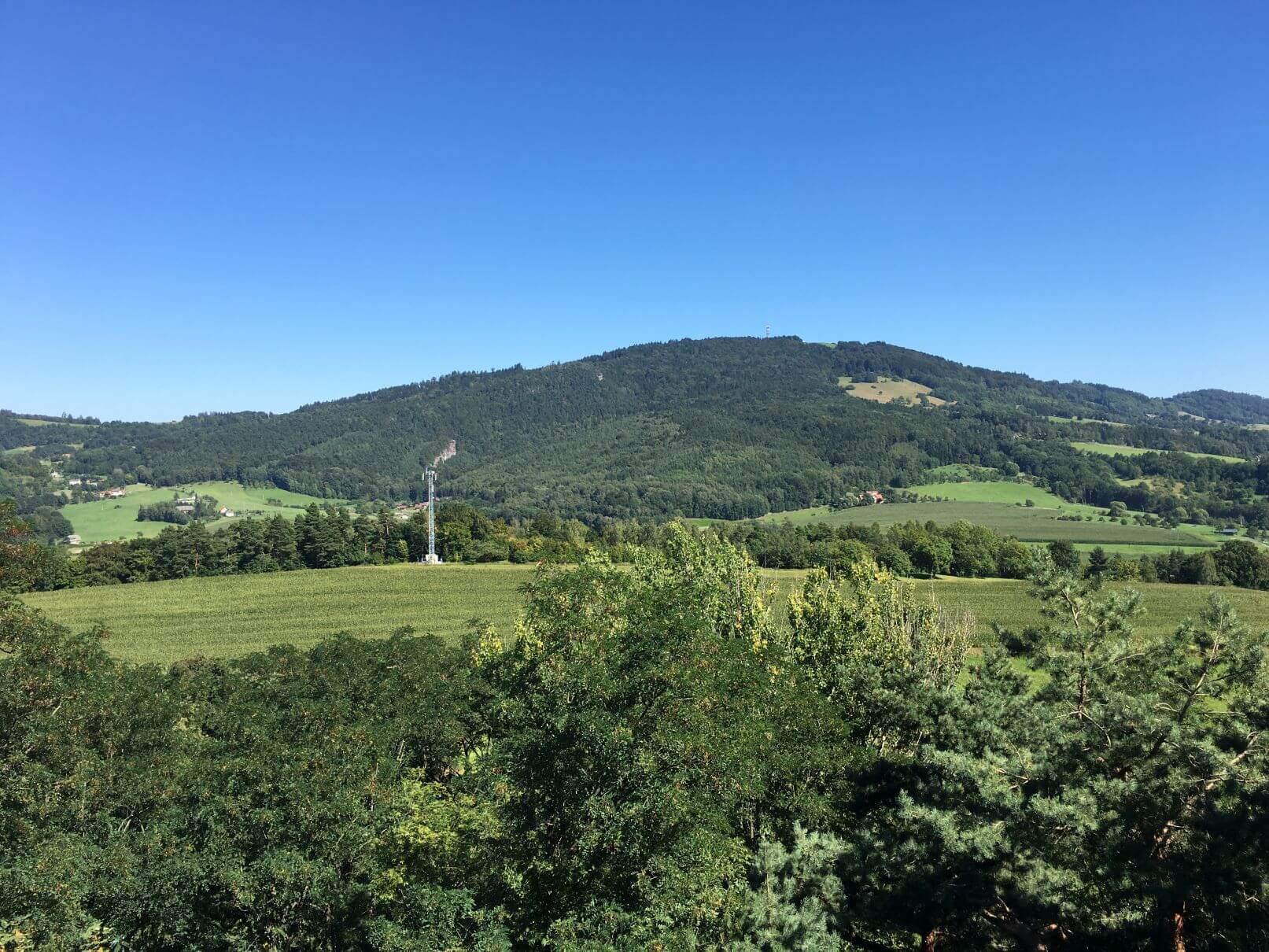 Vyhlídka z hradu Rotštejn