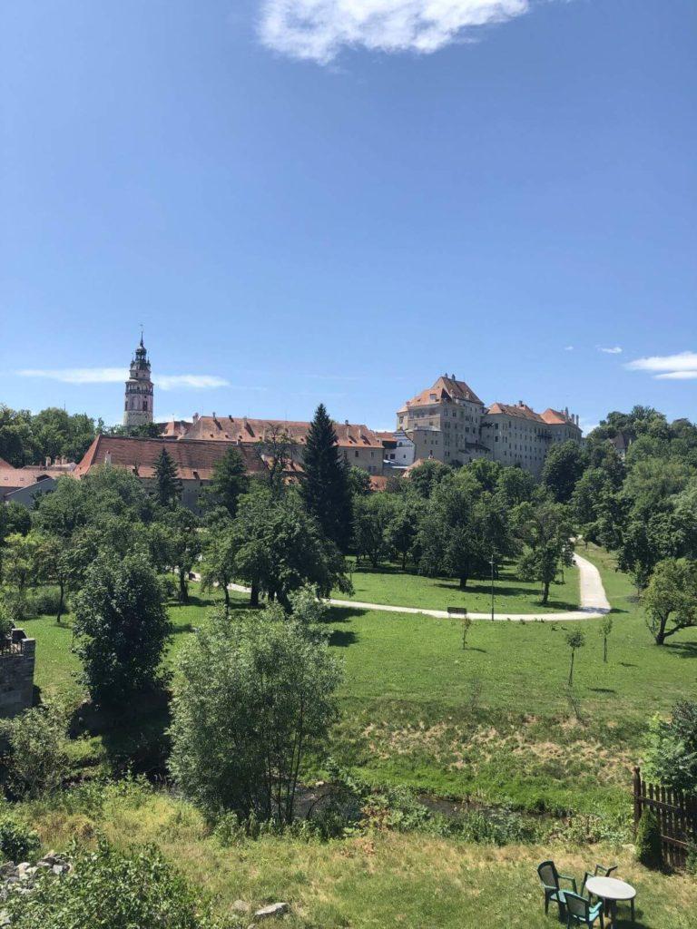 Český Krumlov zahrady