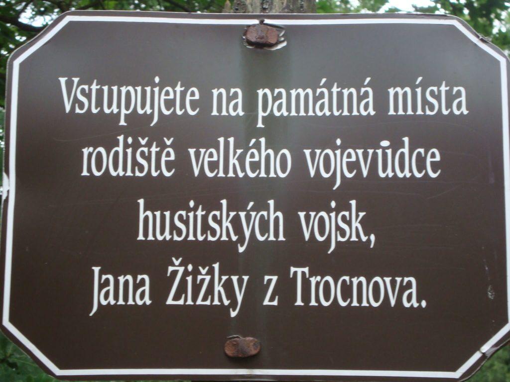 Památná místa Jan Žižka