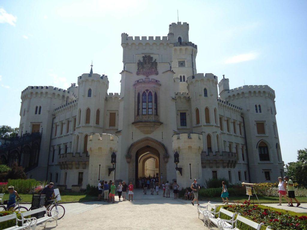 Vstup do zámku Hluboká