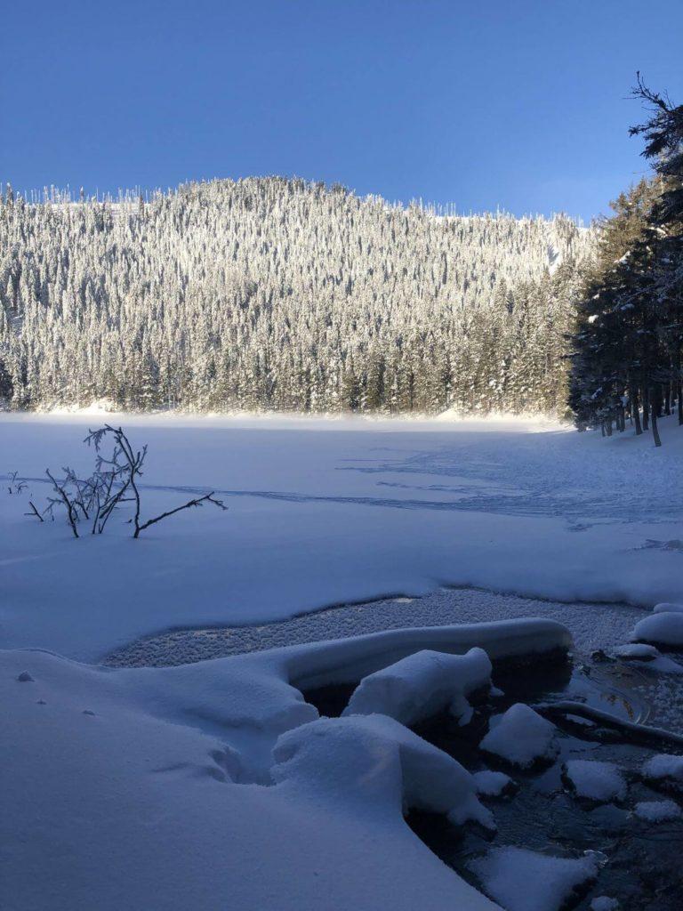 Čertovo jezero zima