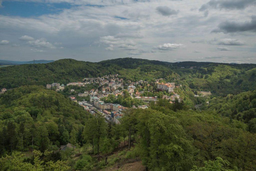 Karlovy Vary jako na dlani