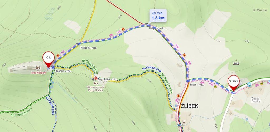 Krátka trasa na Kašperk