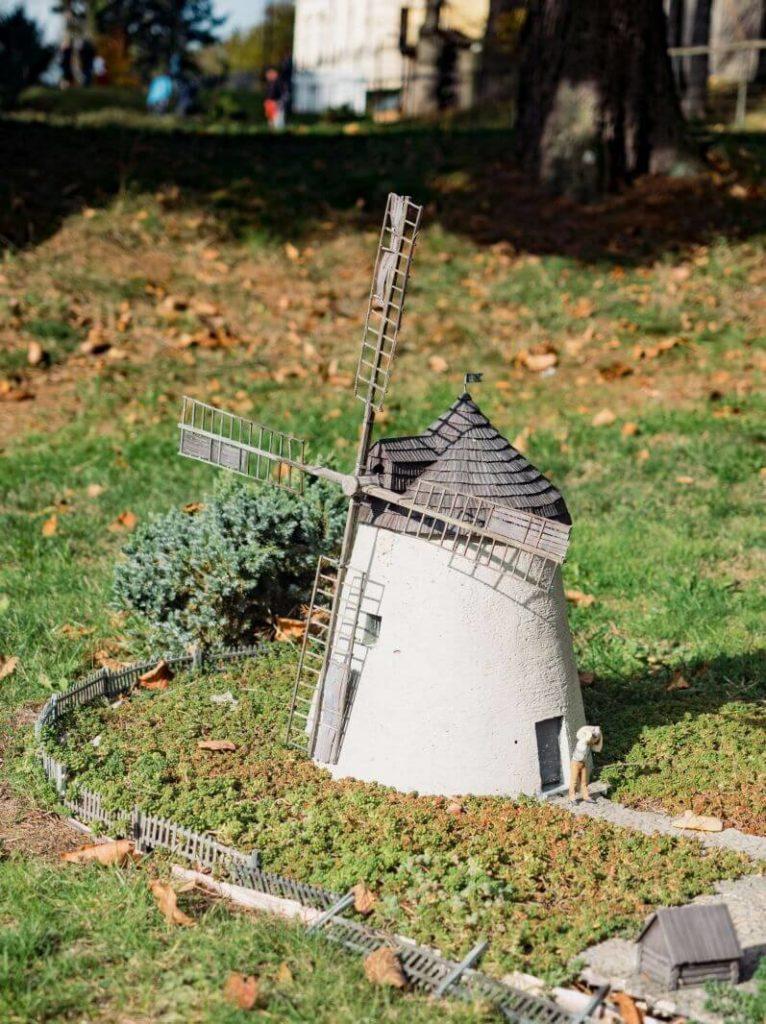 Větrný mlýn miniatury