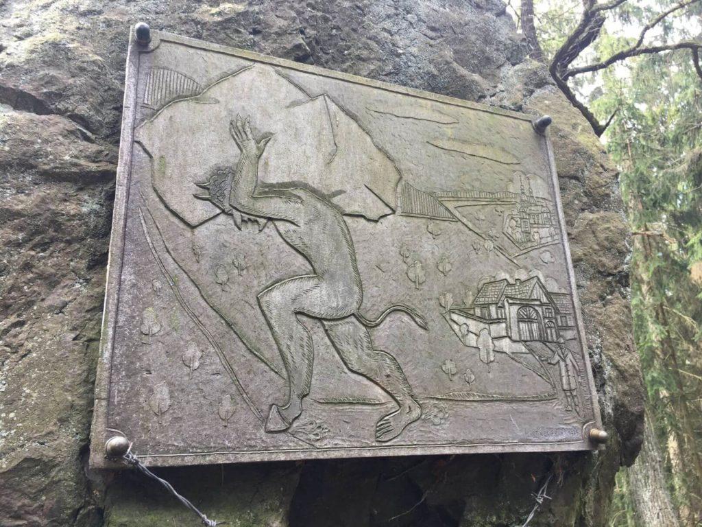 Čertův kámen cedule