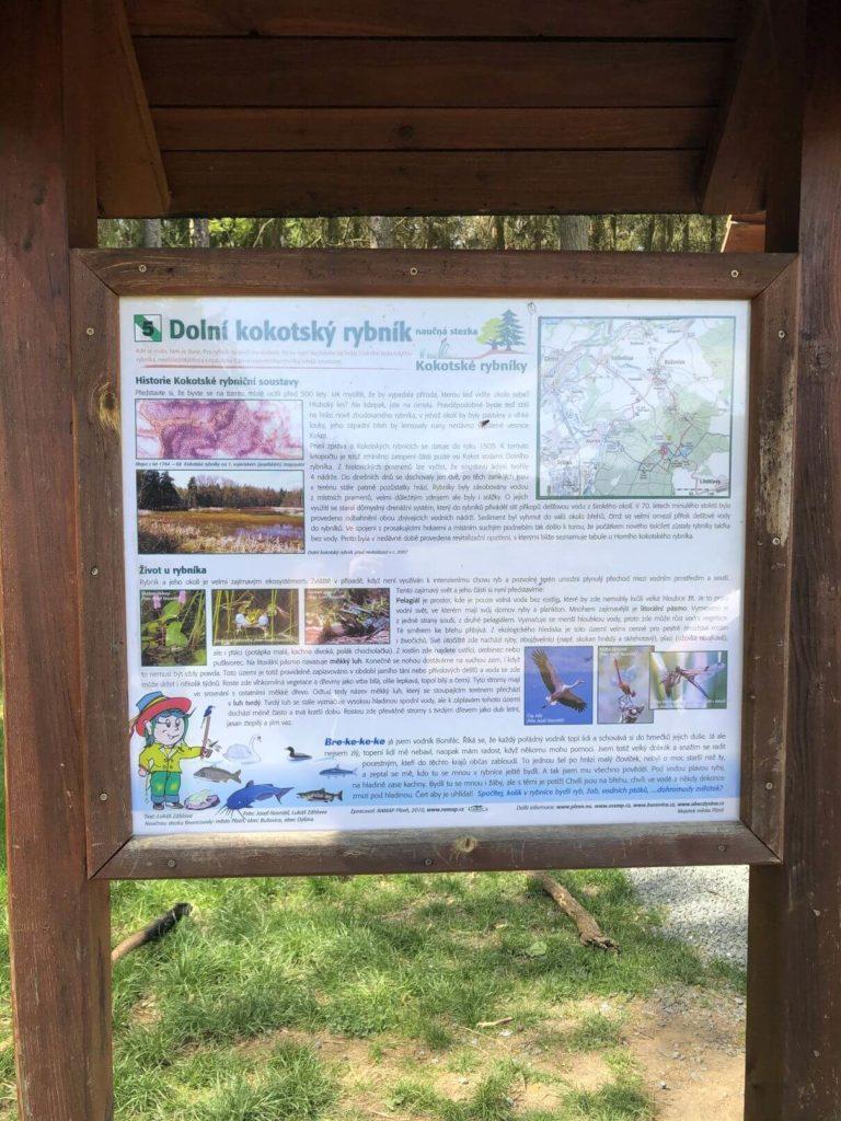 Dolní kokotský rybník cedule