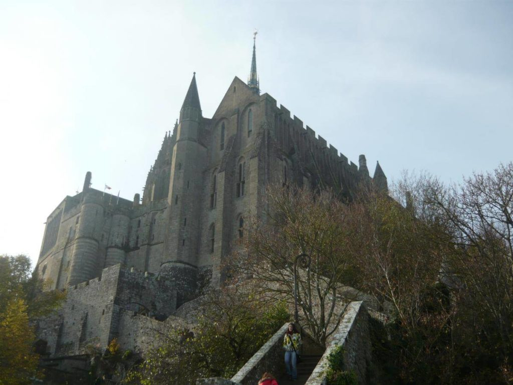 Mont Saint Michel pohled na palác