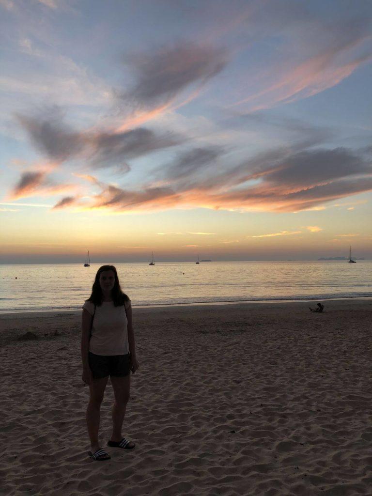 Mařenka na pláži
