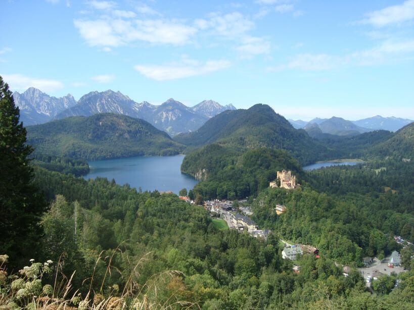Pohled z Hohenschwangau