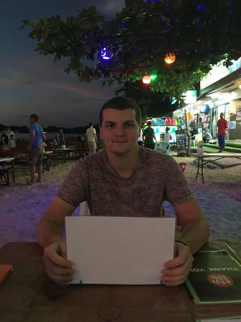 V baru na pláži