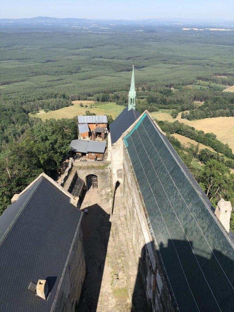 Hrad Bezděz pohled z věže