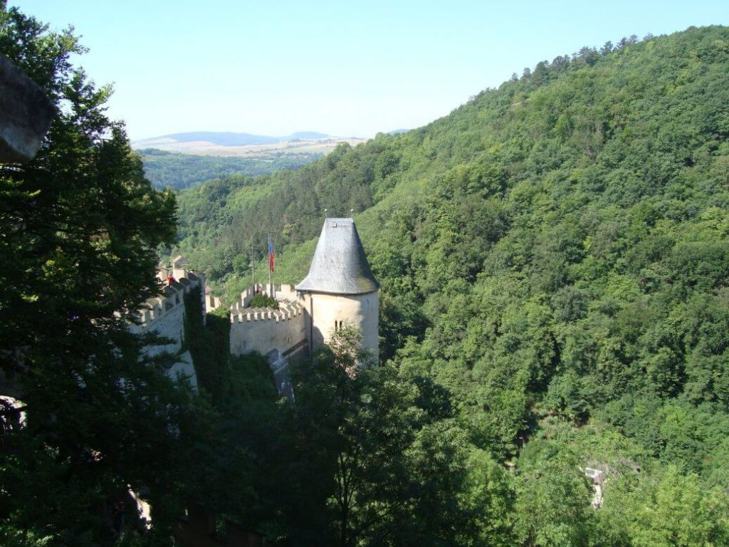 Karlštejn hradby