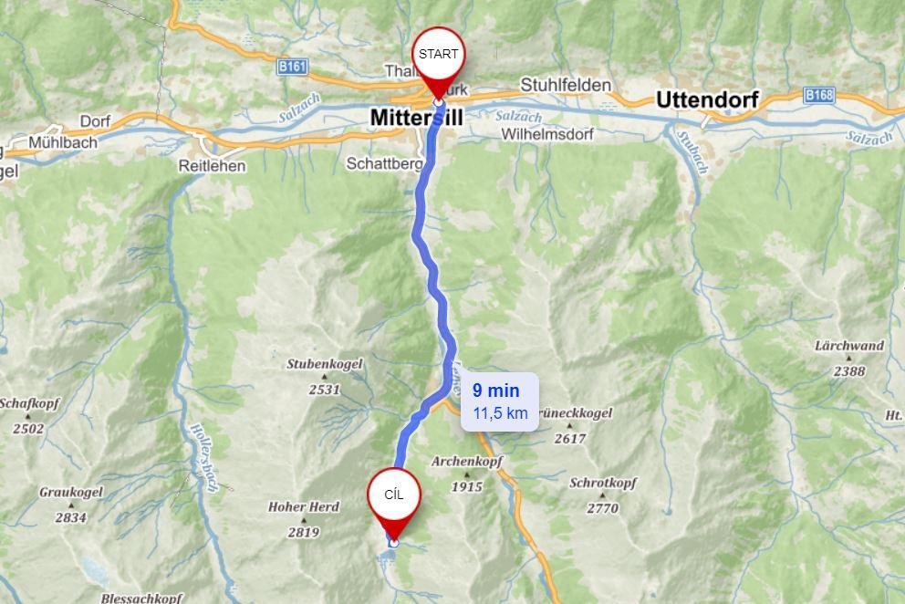 Cesta na Hintersee