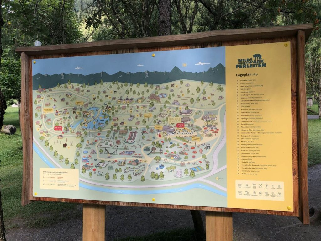 Ferleiten mapa areálu