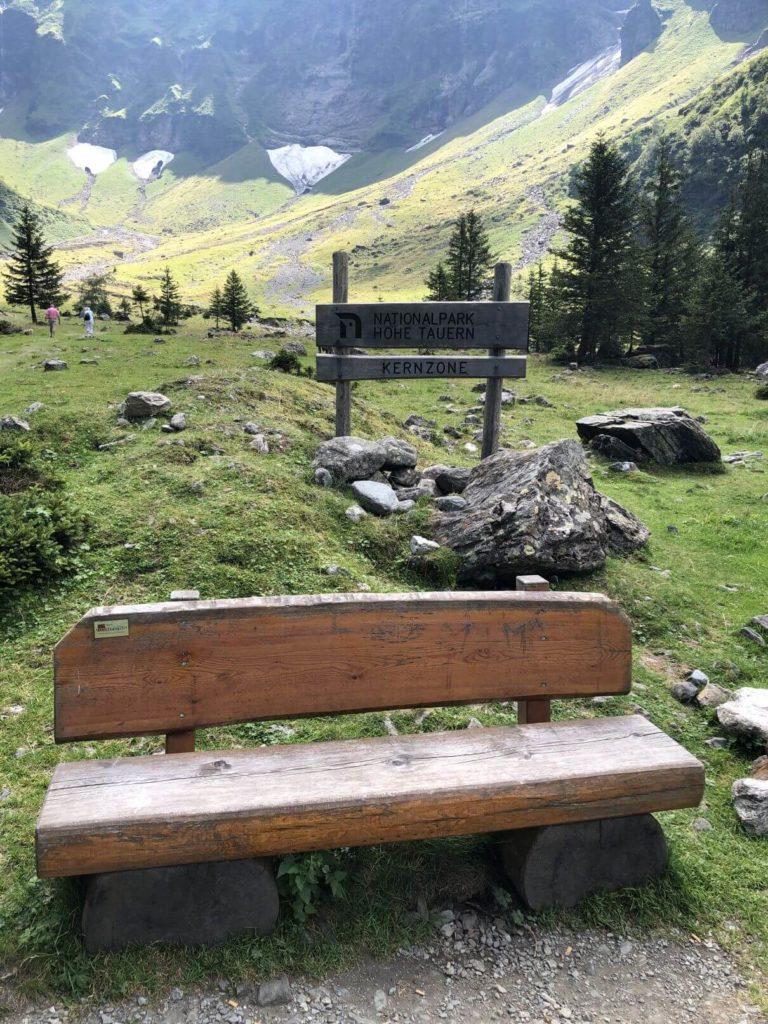 Lavička na Hintersee
