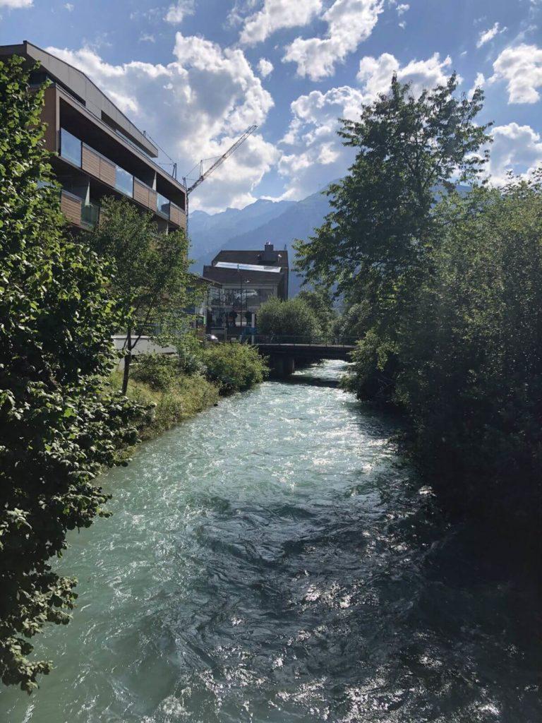 Řeka v Kaprunu
