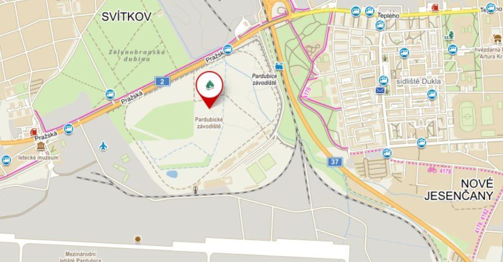 Závodiště mapa