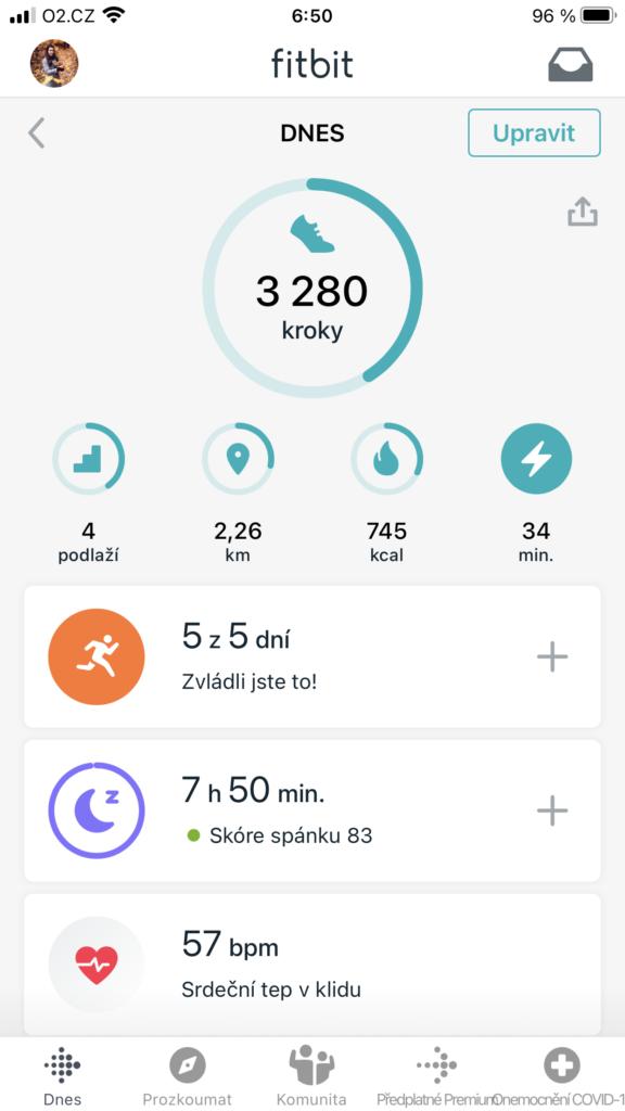 Aplikace Fitbit