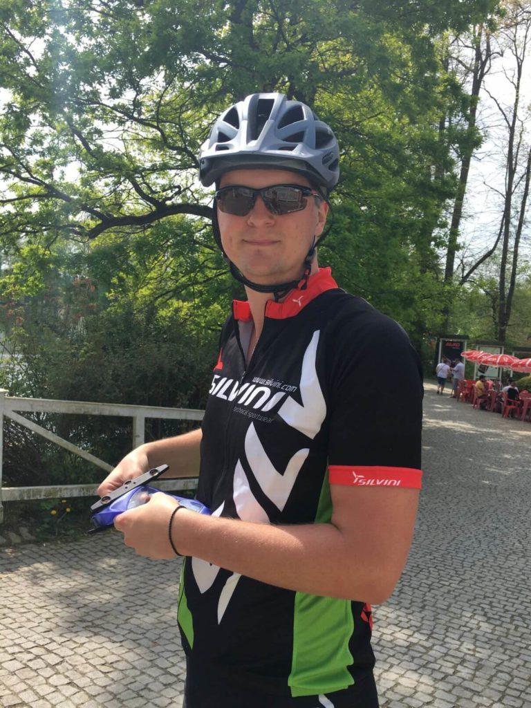 Petr v cyklistickém