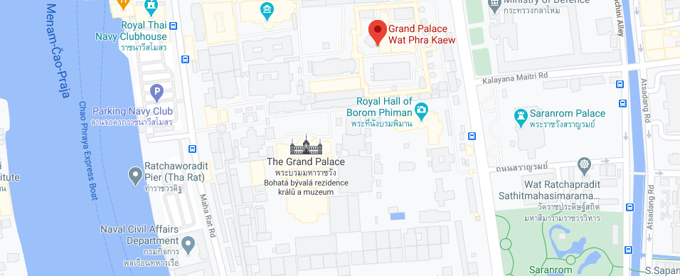 Mapa Grand Palace