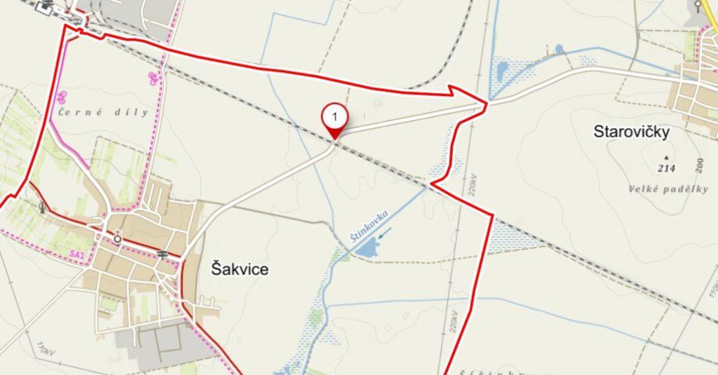 Mapa přejezd