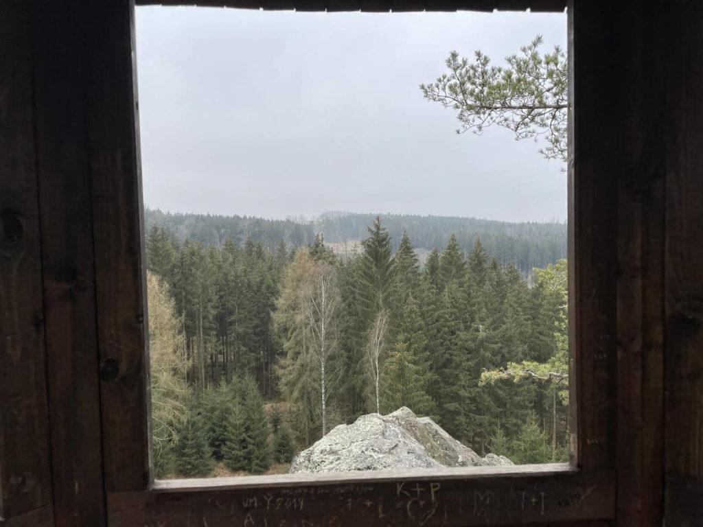 Výhled z altánu
