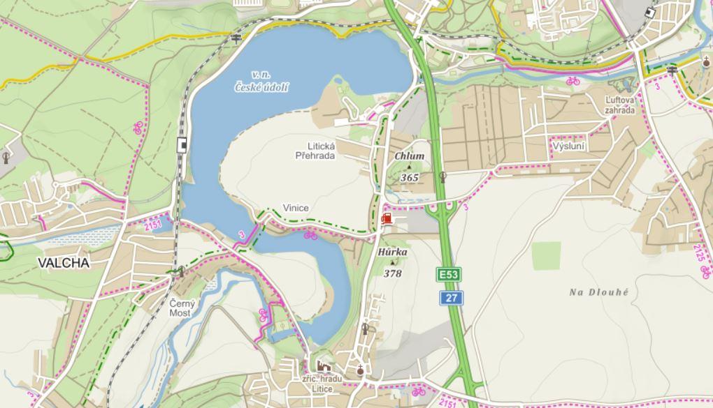 Mapa přehrada