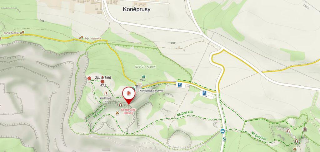 Mapka Koněprusy