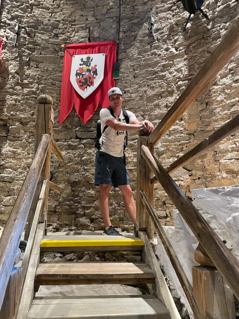 Petr Krauz ve věži