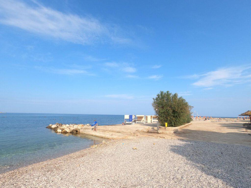 Poreč pláž Parentino