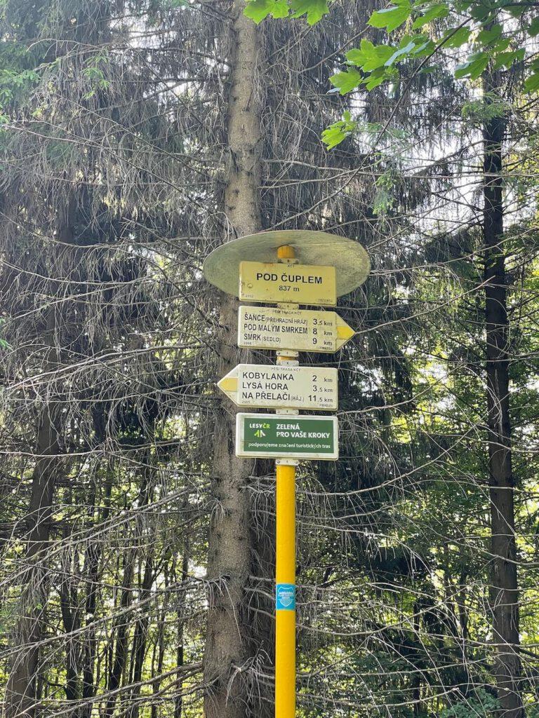 Žlutá stezka na Lysou horu